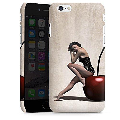Apple iPhone X Silikon Hülle Case Schutzhülle Pin up Vintage Frau Premium Case matt