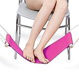 Guoyajf Einstellbare Büro Fußstütze Unter Schreibtisch, Tragbare Mini Büro Fußstütze Standfuß Fuß Hängematte,Pink