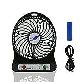 Mini Ventilator USB, HCLKSTORE Mini Ventilateurde de Bureau Mini Fan Transportable Ventilateur puissant et silencieux (Noir)