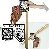 Baseballschläger wandhalterung (100% Stahl) (schwarz)