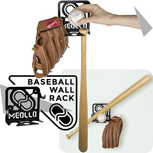 Baseballschläger wandhalterung (100% Stahl) (weiß) -