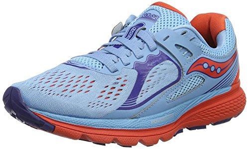 Saucony S10321-2, Zapatillas de Running Para Mujer, Varios Colores (Azul Claro/Naranja/), 40.5 EU