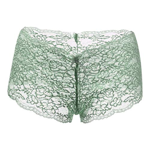 NPRADLA 1/2/5 Pieces Unterhose für Damen-Dessous in Übergrößen Transparente Unterwäsche Slip mit offenem Schritt und Schleife Elastische Shorts für Damen-Unterwäsche -