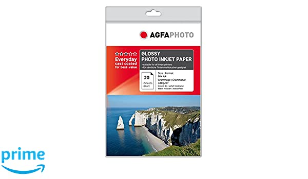 AGFA Bronze Pack de 100 Papiers photos A6 Laqu/é