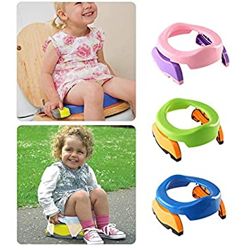 Baby Travel Potty Chair Seat Kids Portable Foldable Toilet with 10 PP Bags