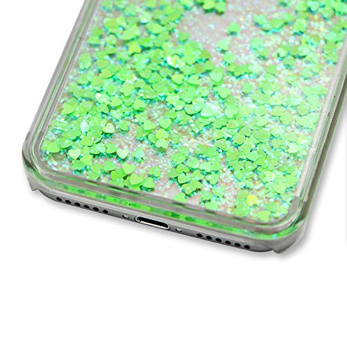 für iphone 6 Hülle Hartplastik Transparent,SKYXD Handyhülle iphone 6S Glitzer Flüssig Bewegen Partikel Fließen Durchsichtig Klar Brillianter Kreativ Design mit [Handyanhänger + Eingabestifte] Rückseit Farbe #07