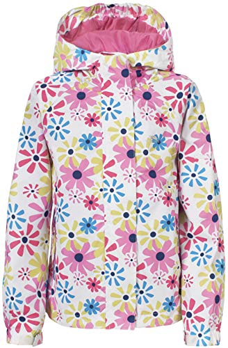 Trespass Girls Waterproof Popstar II Hooded Rain Jacket Coat