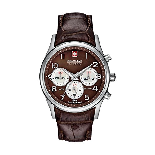 Montres Femme NOSIZE Swiss Military NAVALUS MULTIFUNCTION 06-6278 04 Brun