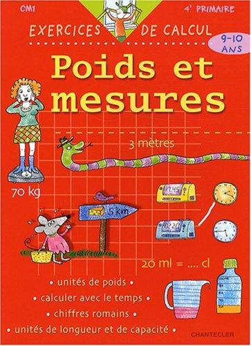 Poids et mesures CM1 9-10 ans