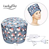 High End Hair Steamer Cap, Luckyfine Hair Thermal Hat, For Hair Spa Home Hair Thermal Treatment Beauty Steamer Spa Cap Nourishing Hair Care Hat, Elegant Design, Gift for Mother's Day