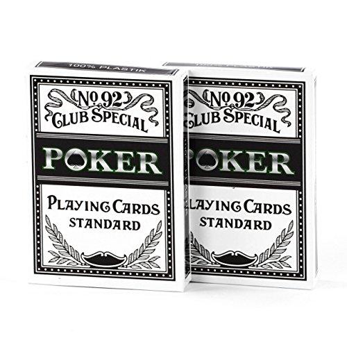 Poker Karten 100 % Kunststoff 2 Decks Casinoqualität