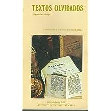Textos olvidados (Segunda entrega) (Libros de bolsillo del Instituto de Estudios Fiscales)