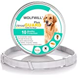 WOLFWILL 2018 Plus Dog Antiparasitic Collars - 66cm Flea and Tick Collars for Small Medium Large