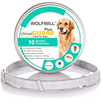 WOLFWILL 2018 Plus Dog Antiparasitic Collars - 66cm Flea and Tick Collars for Small Medium Large Dogs (10 Month Protection & Prevention)