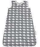 greenluup® Kids Babyschlafsack Bio Baumwolle Nicki Schlafsack (70 cm, Grau - Weiß Waldesign)
