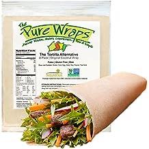 Coconut Wraps - Low Carbohydrate & Sugar - Gluten Free Bread/Tortilla Alternative - Healthy, Easy & Safe - 8 Count Original
