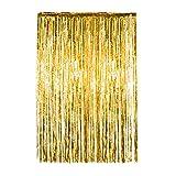 Tassel Vorhang Streifen Hintergrund Folie Vorhang Metalldraht Vorhang Türvorhang Geeignet für Partys Geburtstage Hochzeiten Zeremonien Baby Duschen Hochzeiten Weihnachten etc.