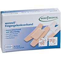 werovil-Fingergelenkverband, wasserabw. 7,5x3,8cm, (50 Stk./Pkg.) preisvergleich bei billige-tabletten.eu