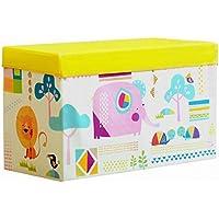 Preisvergleich für Folding Storage Seat Bench- 60 Liter Große Faltbare Stoffe Lagerung Hocker Haushalt Kinder Spielzeug Kleidung Aufbewahrungsbox mit Deckel 60 cm × 30 cm × 35 cm Home Decor (Farbe : B)