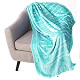 Flannel Super Soft Super Luxurious Positive Energy Cure Square Blanket by ShinideHBin (Green)