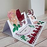 A5 personalisierte Glückwunschkarte Babykarte Geburtskarte Grußkarte Glückwunsch zur Geburt Geburtsgeschenk Geldgeschenk Geschenk zum Baby Shower Wunschname Mädchen inkl. Umschlag Handarbeit binnbonn