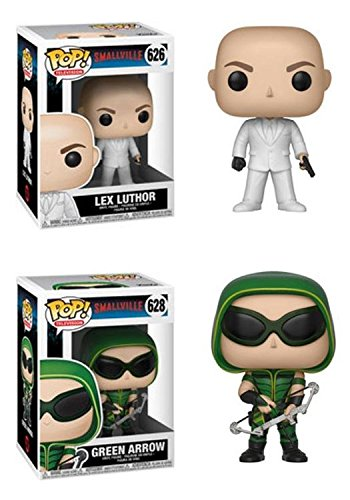 FunkoPOP Smallville Lex Luthor Green Arrow Stylized TV Vinyl Figure Bundle Set NEW