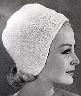 Crocheted Helmet with Knitted Band Hat Cap Beanie Knit Crochet Pattern