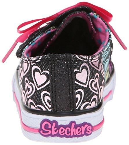 Skechers Mädchen Shuffles Hopscotch Sneaker Schwarz - Schwarz