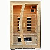 Artsauna Infrarotkabine/Wärmekabine Schweden 120 mit Keramikstrahlern & Hemlockholz | Infrarotsauna mit Glasfront für 2 Personen