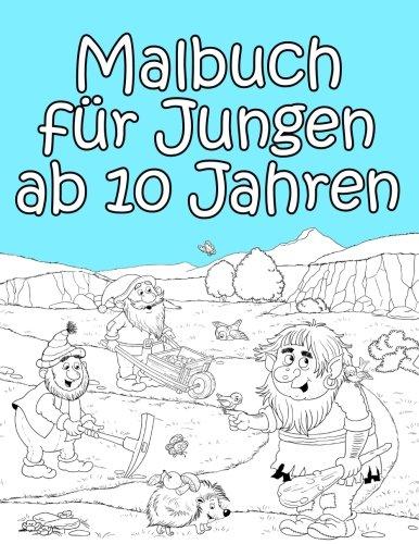 Malbuch für Jungen ab 10 Jahren: Spannende Motive zum Ausmalen für Jungs