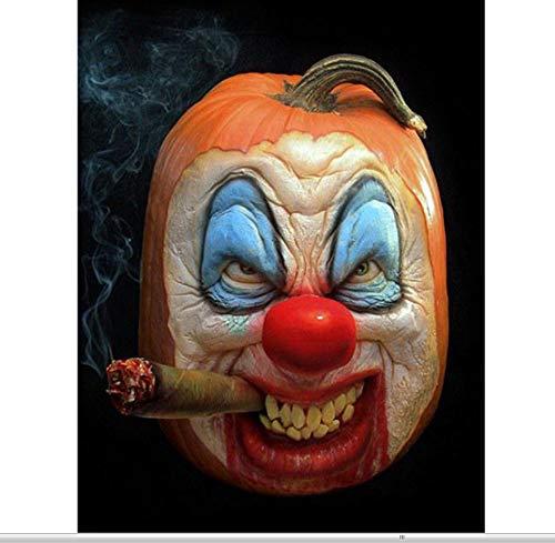 XIGZI Diamant Stickerei 5D DIY Diamant Malerei Kreuzstich Halloween Kürbis Clown Bild Alle Mosaik Dekorationen Für Zu Hause 40X50 cm