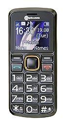 AMPLICOMMS PowerTel M6300 Quadband Notruftaste bel. Farbdisplay mit extra grossen Zahlen Bluetooth Vibrationsalarm SMS-Funktion