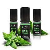 Vaps'Premium – E-liquide Menthe Fraîche - 3 x flacons de 10 ml – 00 mg - Sans nicotine ni tabac
