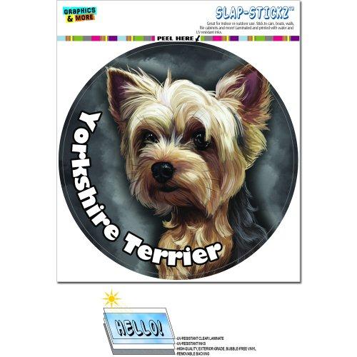 Yorkshire Terrier–Yorkie Hund Pet Kreis Slap-Stickz Aufkleber Automotive Auto Fenster Spind Bumper Kofferraum Aufkleber