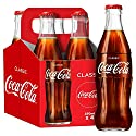 Coca-Cola Classic Glass Bottles, 4 x 250 ml