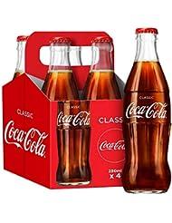 Coca-Cola Classic Glass Bottles, 4 x 250 ml
