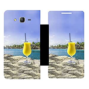Skintice Designer Flip Cover with hi-res printed Vinyl sticker wrap-around for Samsung Galaxy On7 Pro