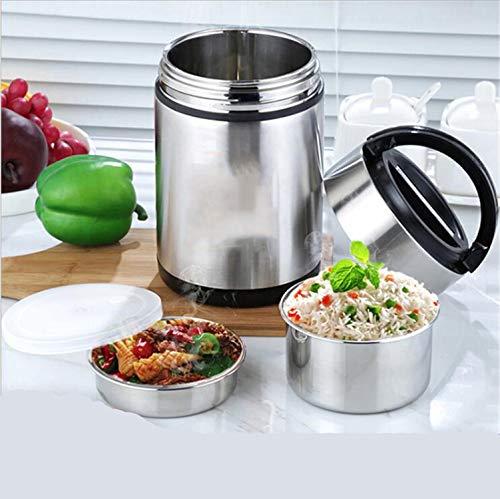 MR.MO Thermische Lunchbox Vakuumisolierte, Dreischichtige Edelstahl-Lebensmittelflasche & Lebensmittelbehälter - 8 Bis 12 Stunden Heiß & 18 Bis 24 Stunden Kalt