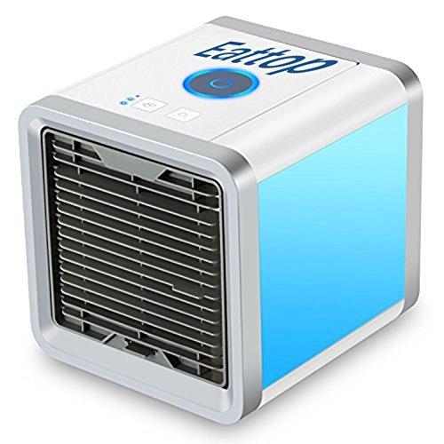Foto de Aire Acondicionado Portátil Enfriador ,Climatizador Evaporativo, Aire Acondicionado, 3-en-1 Mini Enfriador Humidificador Purificador de Aire Portátil USB Aire Acondicionado [Sin Freón & Respetuoso del Medio Ambiente] para Casa/Oficina/Camper/Garaje