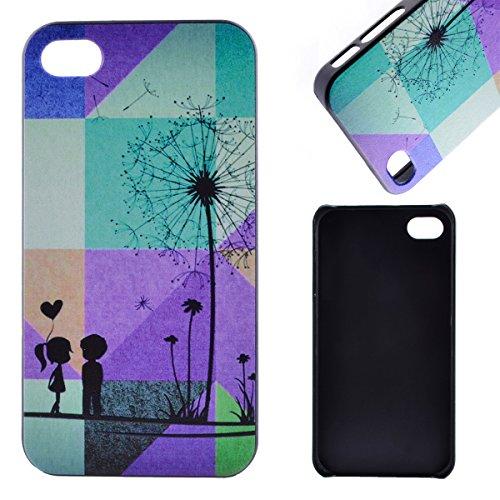 MOONCASE Etui pour iPhone 4G / 4S Hard House Case Coque Cover Étui Shell Mi10 Mi03 #1122