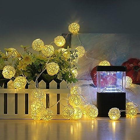 2 X Palla Rattan LED,Pershoo 220V 20