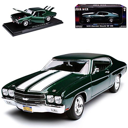 Greenlight Chevrolet Chevy Chevelle SS 396 Coupe Grün John Wick 2. Generation 1968-1972 1/18 Modell Auto - 1968 Chevy Chevelle