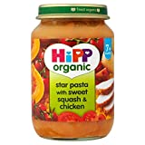 Hipp Bio-Sterne-Nudeln mit süß Squash & Chicken 7mth + (190g) - Packung mit 2