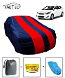 #7: Fabtec Car Body Cover for Hyundai Accent Red & Blue Colour with Storage Bag + Air Freshener + Microfiber Glove Combo!