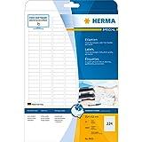 Herma Inkjet-Etiketten (A4 Papier matt, 25,4 x 8,5 mm) 5600 Stück weiß