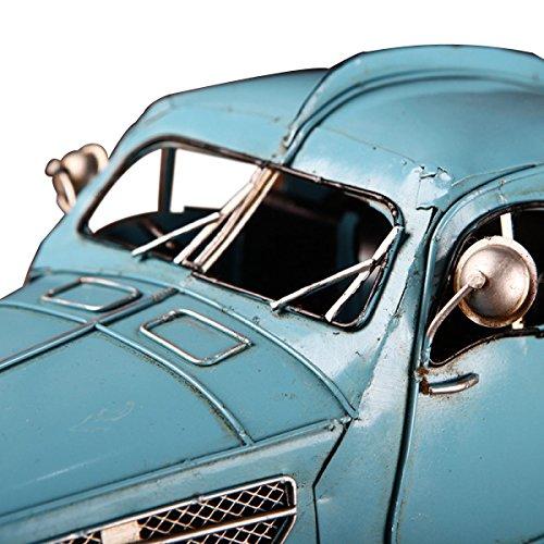 Européenne - Style Métal Bleu Vintage Classique Modèle De Voiture blue