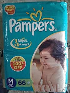 Pampers Medium Size Diapers (66 Count) - Offer Pack