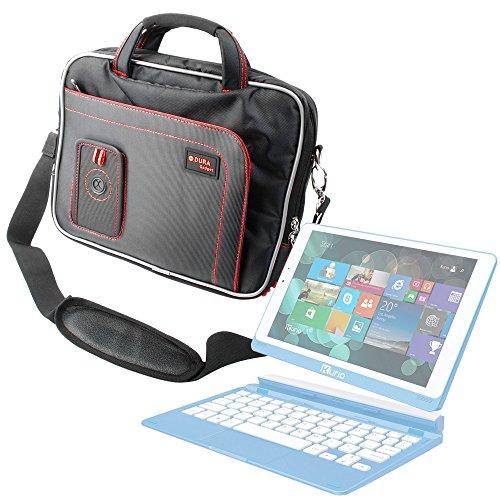 DURAGADGET Maletín con Diseño Ergonómico para Kurio - Tablet Infantil Smart (Cefatronic 099) - En Color Negro Y Rojo