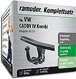Rameder Komplettsatz, Anhängerkupplung Starr + 13pol Elektrik für VW Caddy IV Kombi (112995-14302-1)