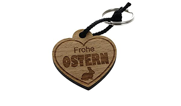 """Ostergeschenk Holz-Schlüsselanhänger Herz /""""Für den süßesten Hasen der Welt/"""""""